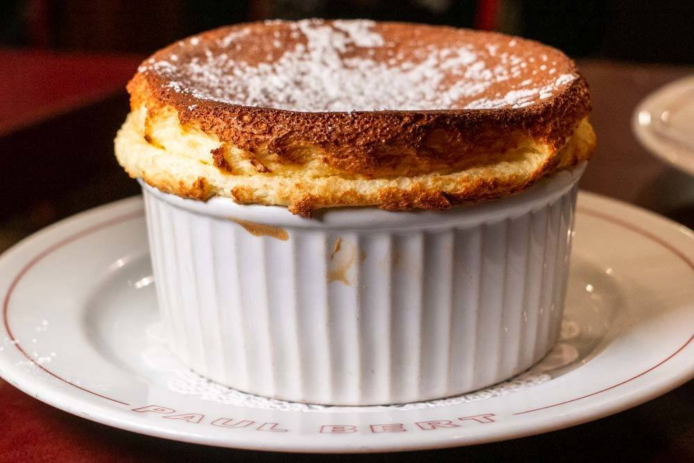 Grand Marnier Souffle at Bistrot Paul Bert in Paris