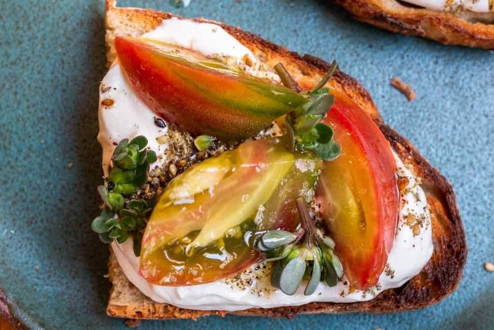 Labne Toast at Mokonuts in Paris