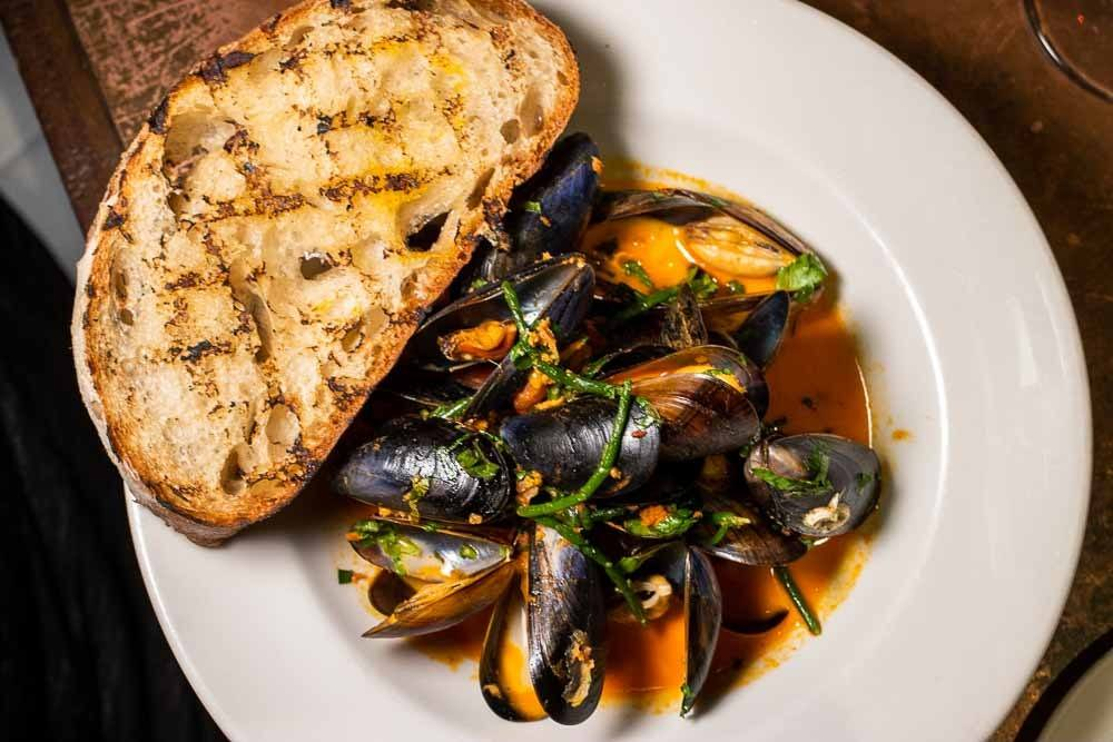 Mussels at Etto in Dublin