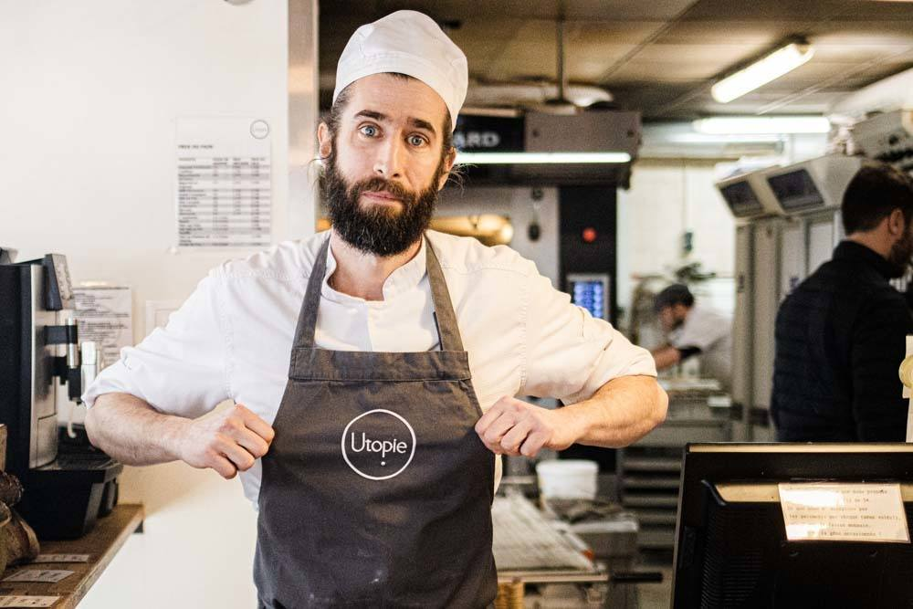 Pastry Chef Erwan Blanche at Boulangerie Utopie in Paris