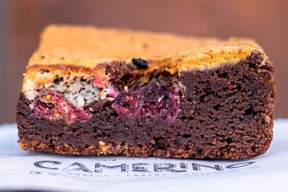 Raspberry Brownie at Camerino Bakery in Dublin