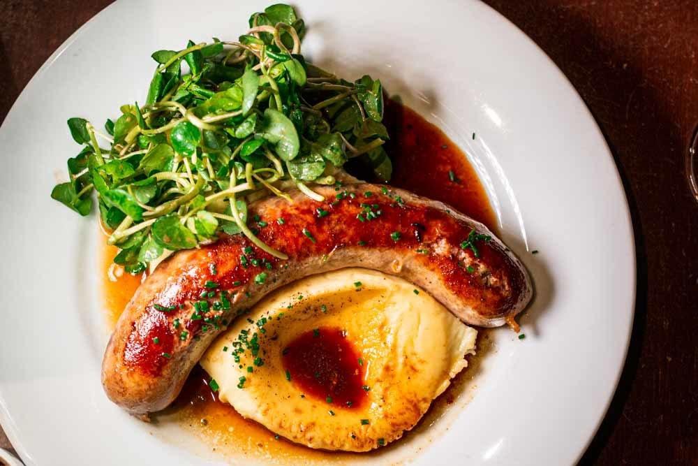 Sausage at Les Arlots in Paris