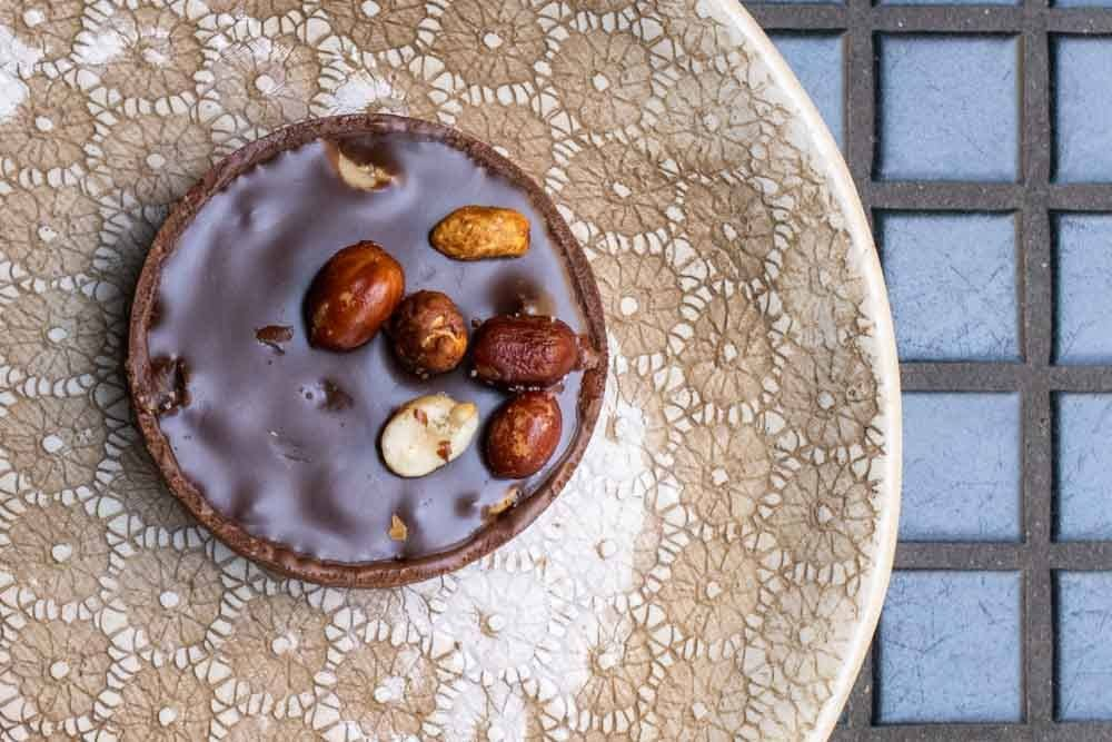 Tarte Chocolate Facon Snickers at KARAMEL PARIS in Paris