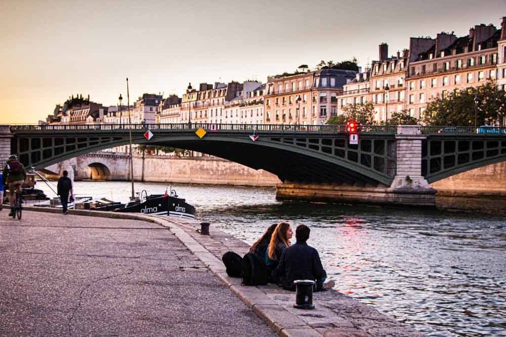 Along the Banks of the Seine in Paris