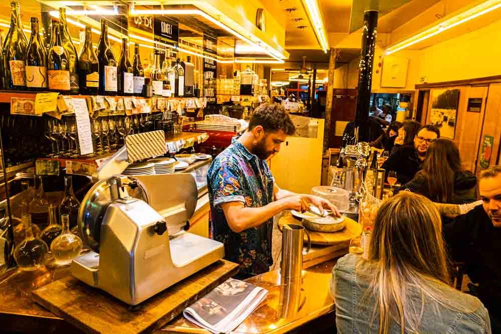 Bar at Aux Deux Amis in Paris