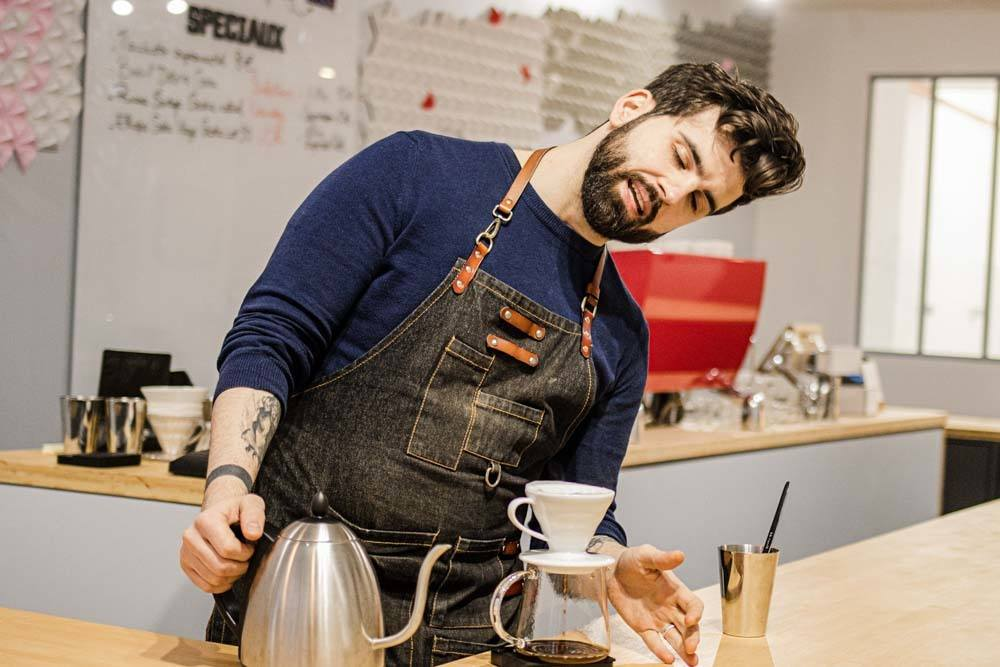 Barista at Substance Cafe in Paris