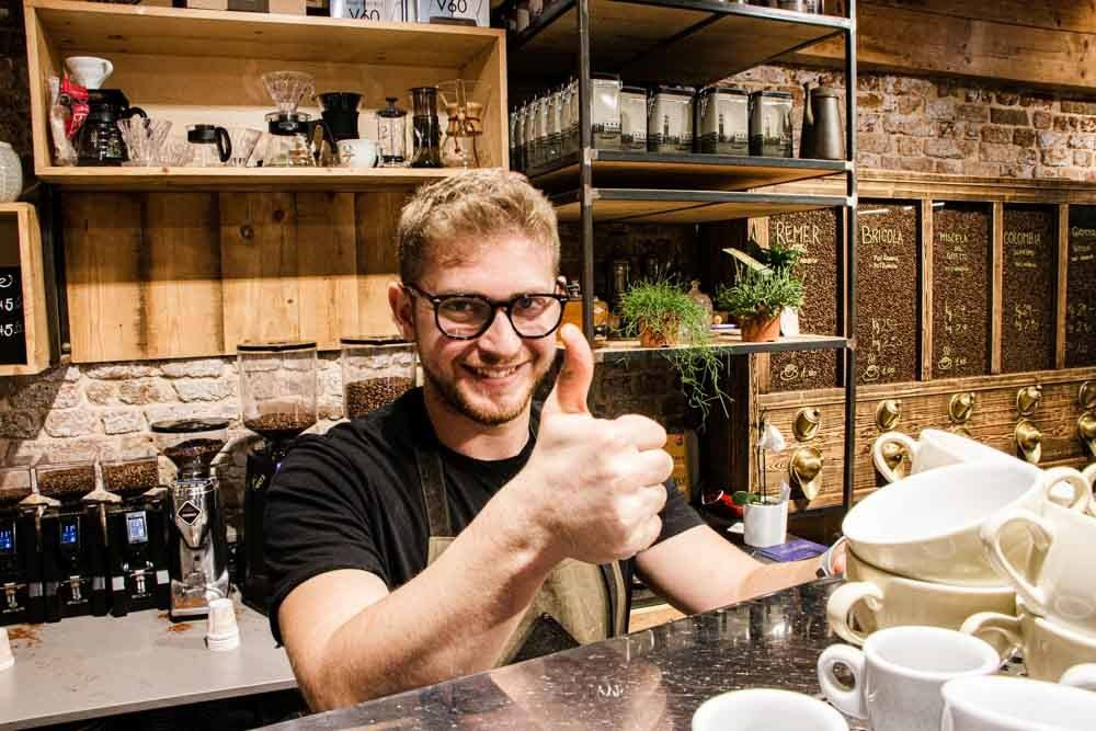 Barista at Torrefazione Cannaregio in Venice