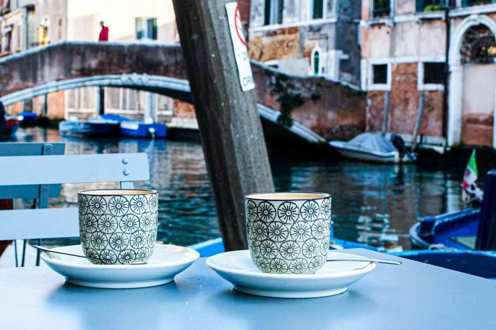 Coffee with a view in Venice