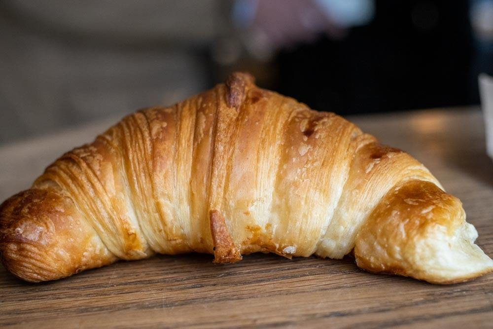 Croissant at Boulangerie Utopie in Paris
