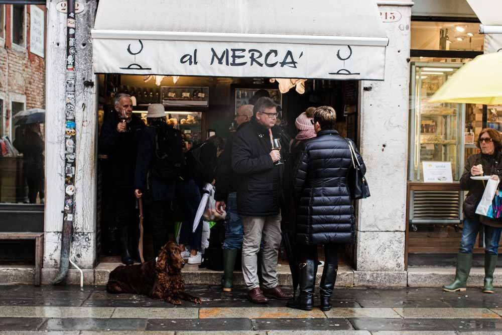 Crowd at Al Merca in Venice