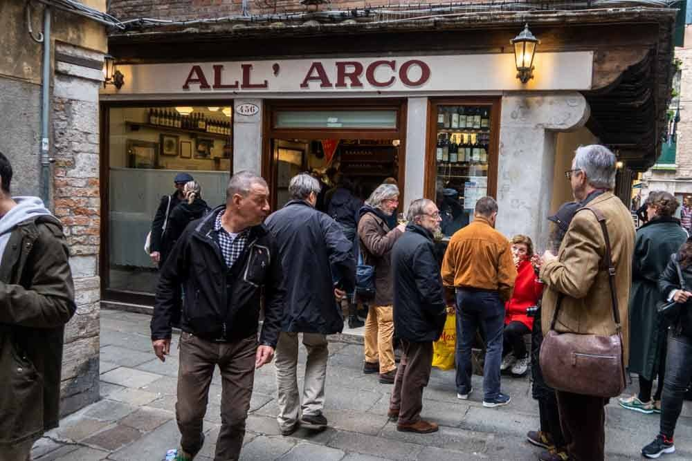 Crowd at Bar All Arco in Venice