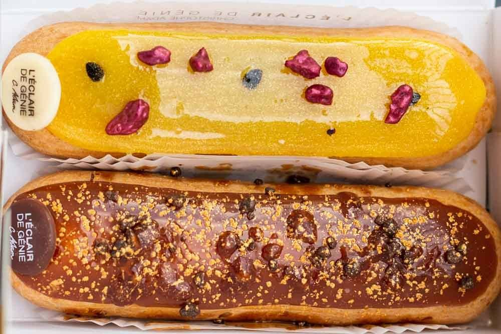 Eclairs at L'Eclair de Genie in Paris