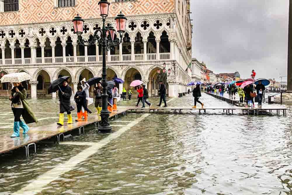 Flood Walkway in Venice