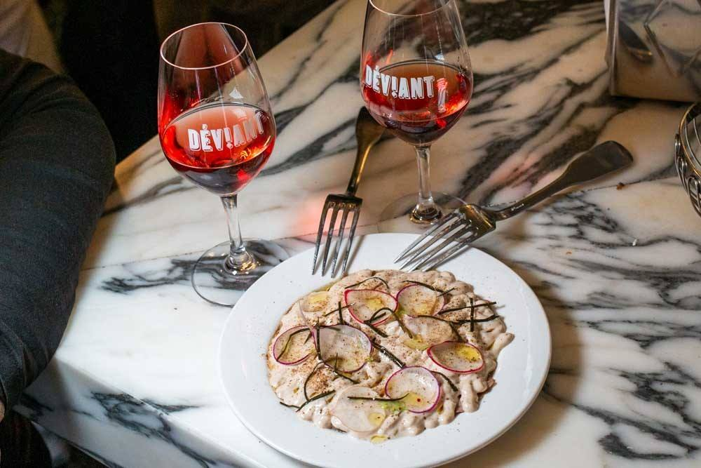 Food and Wine at Deviant in Paris