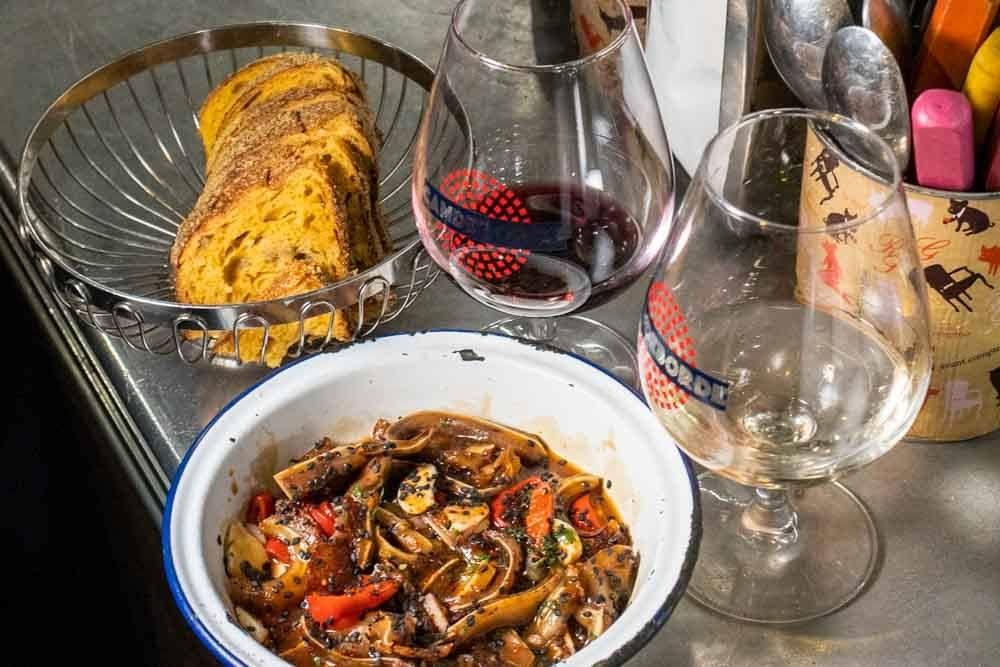 Food and Wine at LAvant Comptoir du Marché in Paris