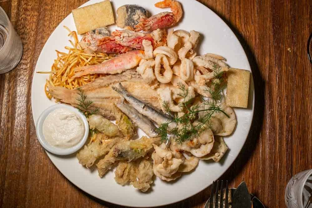 Fritto Misto at Al Covo in Venice