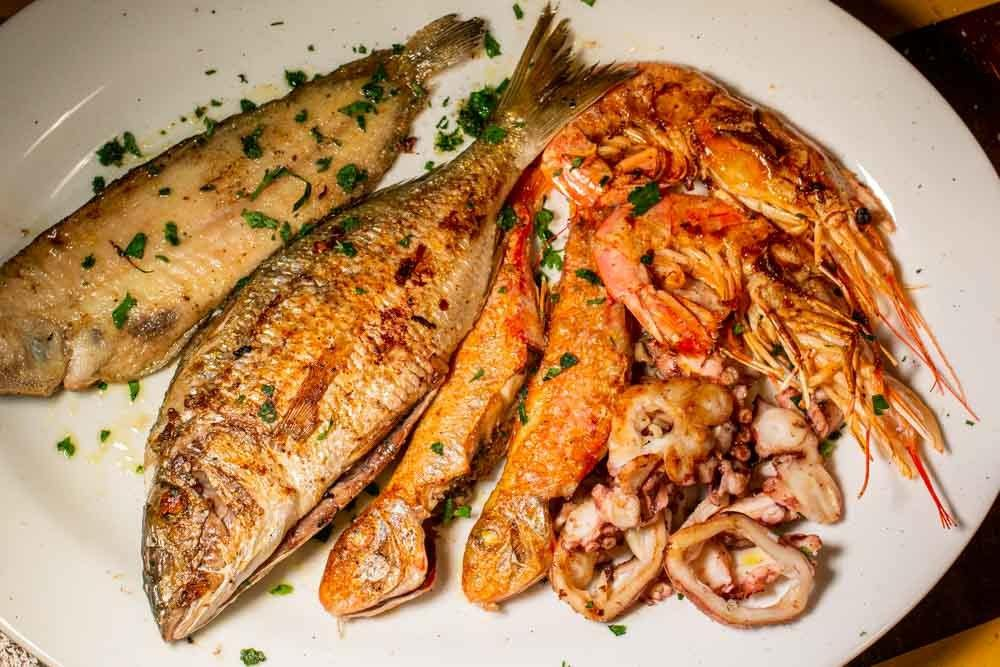 Grilled Fish at Il Paradiso Perduto in Venice