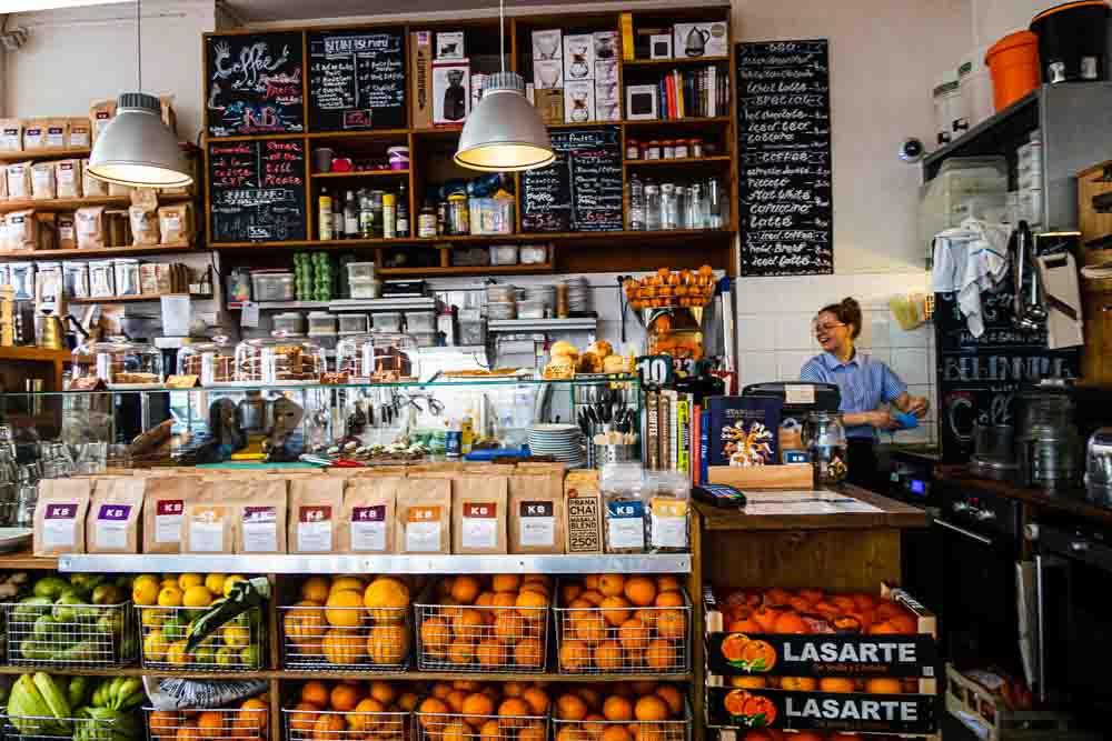 Inside KB Coffee Roasters in Paris