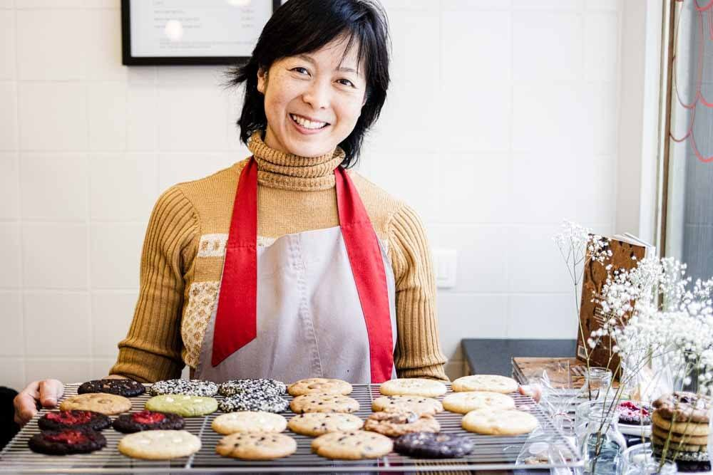Jean Hwang Carrant and Her Cookies in Paris