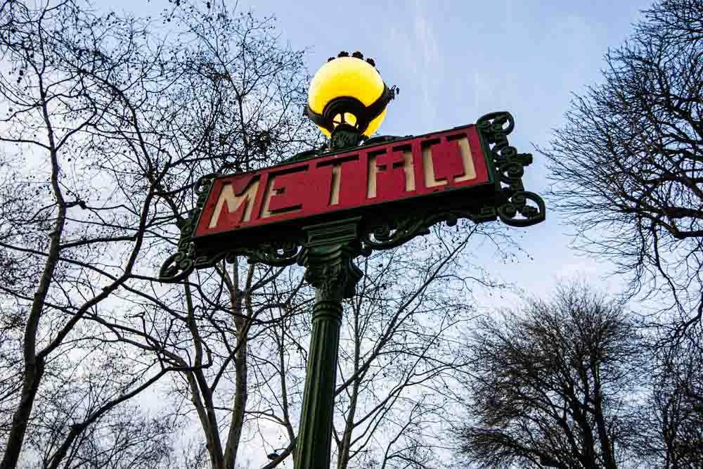 Metro Station Sign in Paris