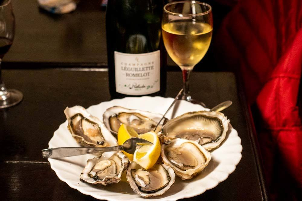 Oysters and Wine at Le Baron Rouge in Paris