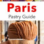 Pinterest image: Two Paris Images with caption reading 'Paris Pastry Guide'