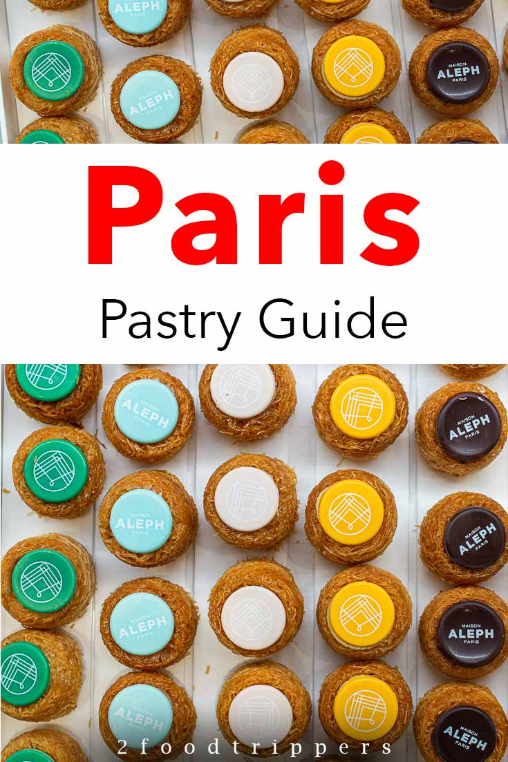 Pinterest image: Colorful Pastries caption reading 'Paris Pastry Guide'