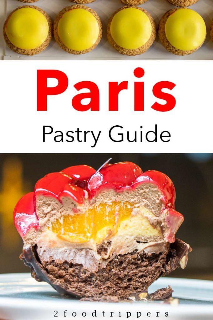 Pinterest image: Two Paris Images with caption reading 'Paris Pastry Guide'