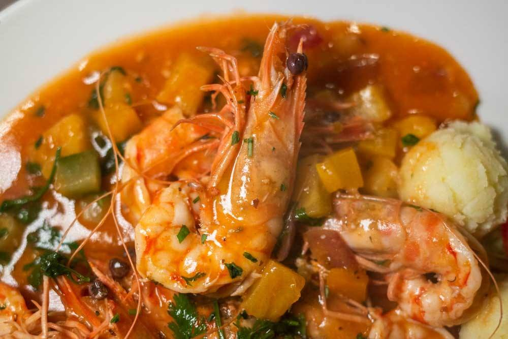 Prawns in Sweet and Sour Busara Style Osteria Alle Testiere in Venice