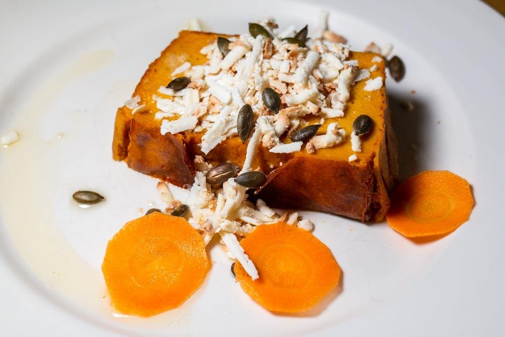 Pumpkin Flan at La Zucca in Venice