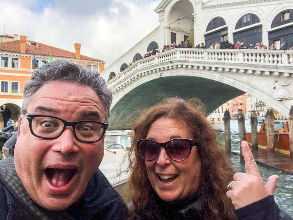 Rialto Bridge Selfie in Venice