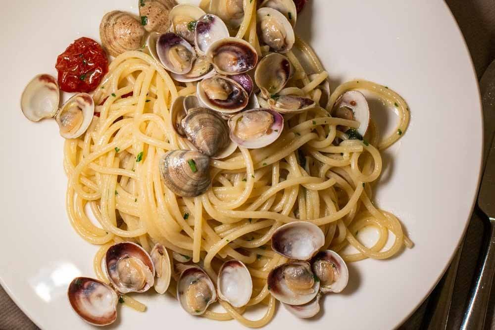 Spaghetti with Bevarasse Claims at Osteria Alle Testiere in Venice
