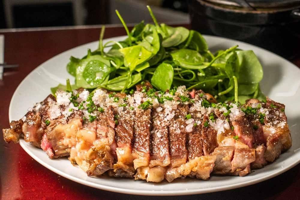 Steak at Juveniles in Paris