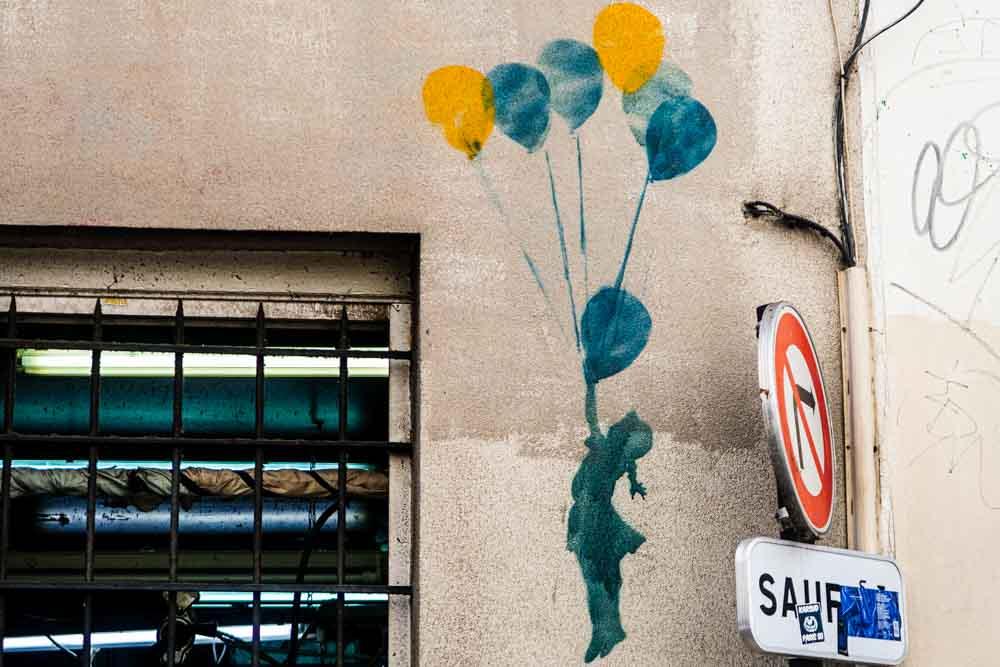 Street Art Girl in Paris