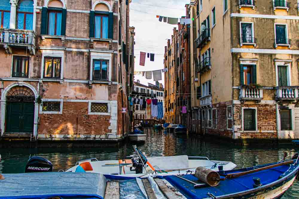 Venice Canal with Laundry