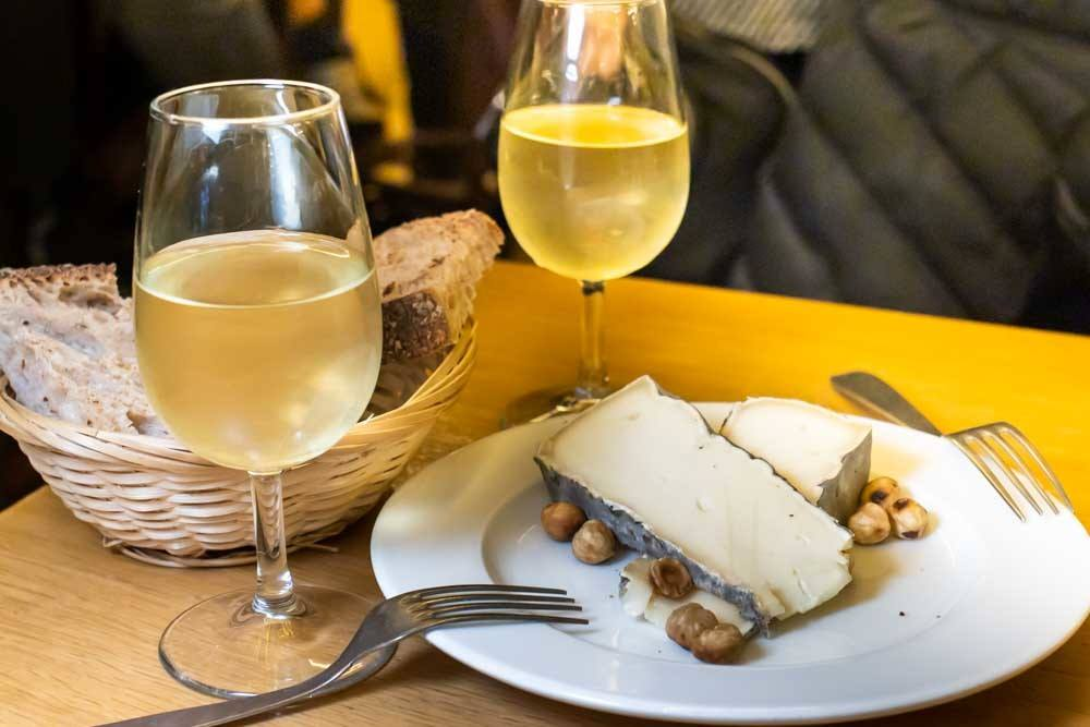 Wine and Cheese at Aux Deux Amis in Paris