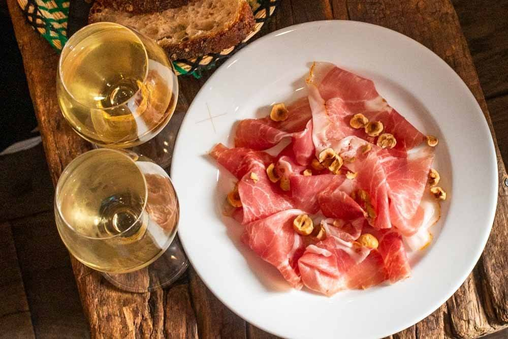 Wine and Ham at Septime la Cave in Paris