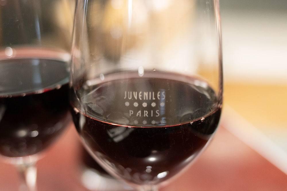 Wine at Juveniles in Paris