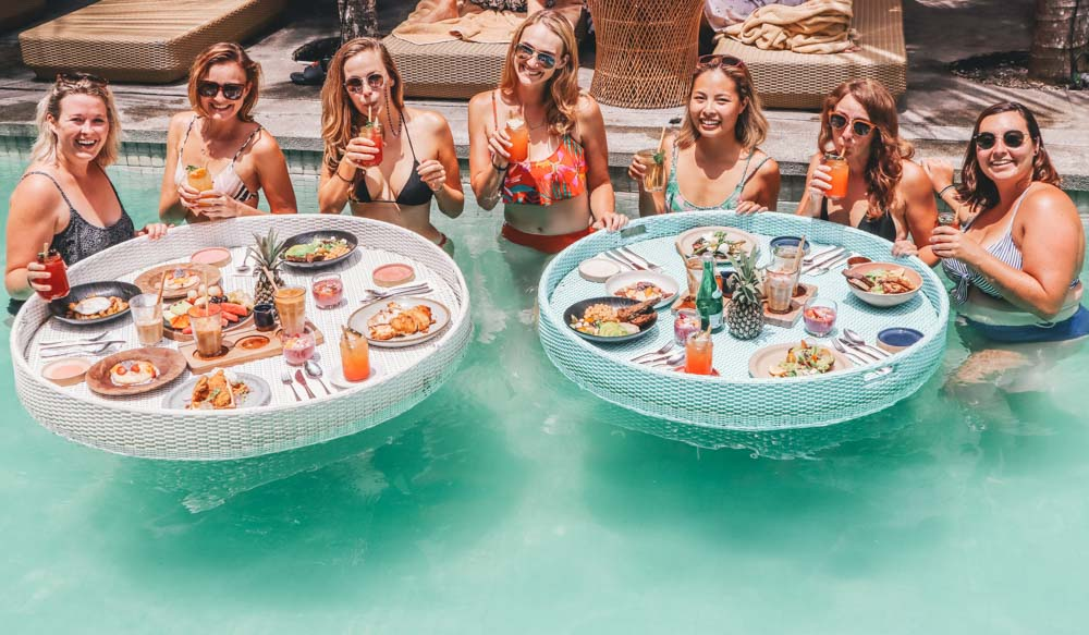 Bali Brunch in a Pool