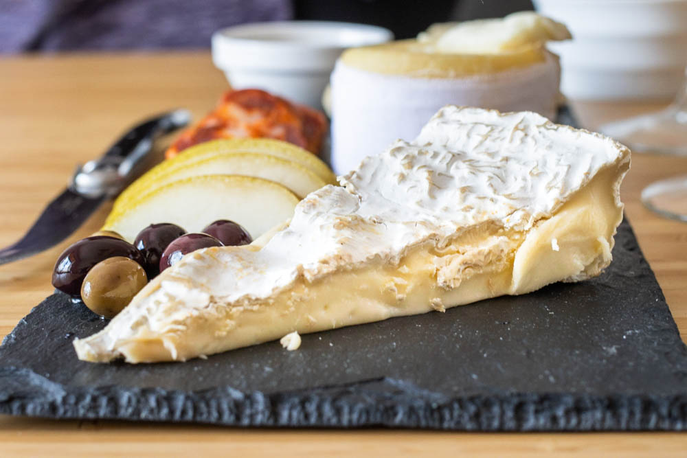 Brie on a Cheese Plate