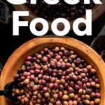 Pinterest image: image of Greek food with caption 'Greek Food'