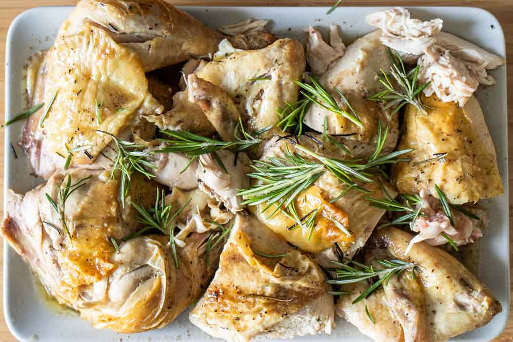 Roasted Chicken on Platter