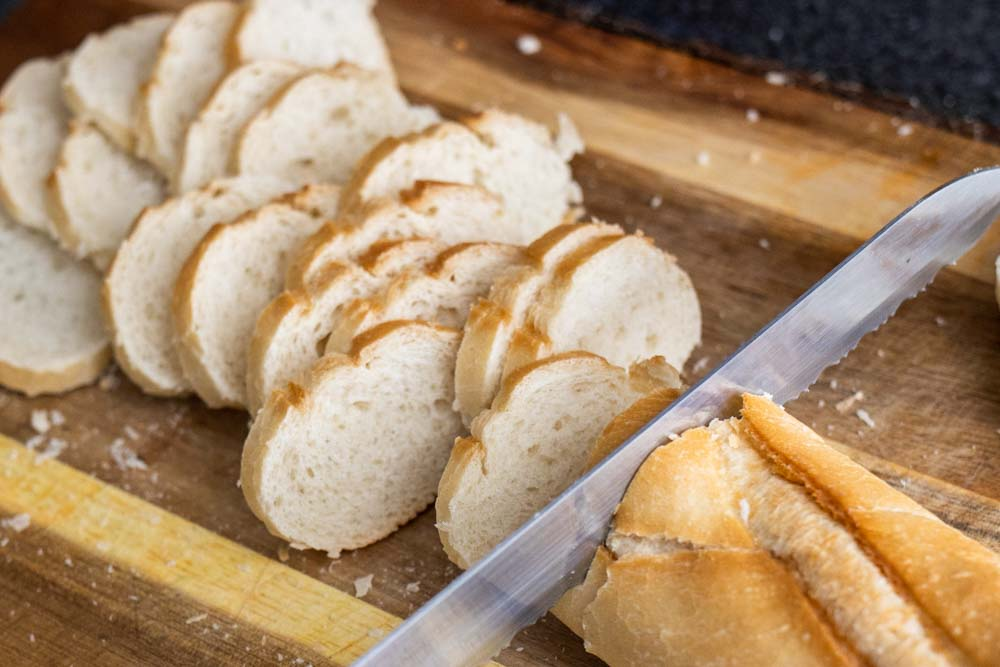Slicing Bread for the Cheese Plate