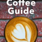 Pinterest image: image of coffee with caption reading 'Athens Coffee Guide'