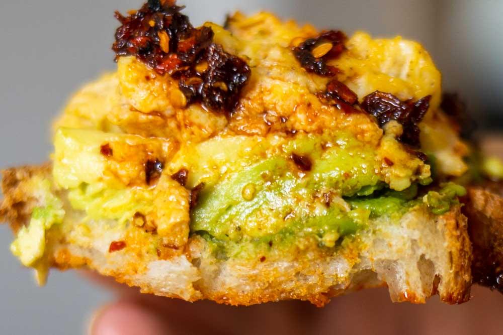 Avocado Egg Toast with Chili Crisp