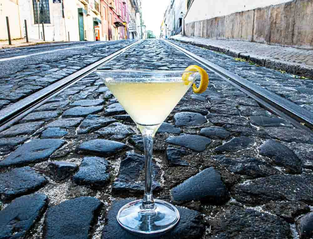 Bees Knees Cocktail on Street