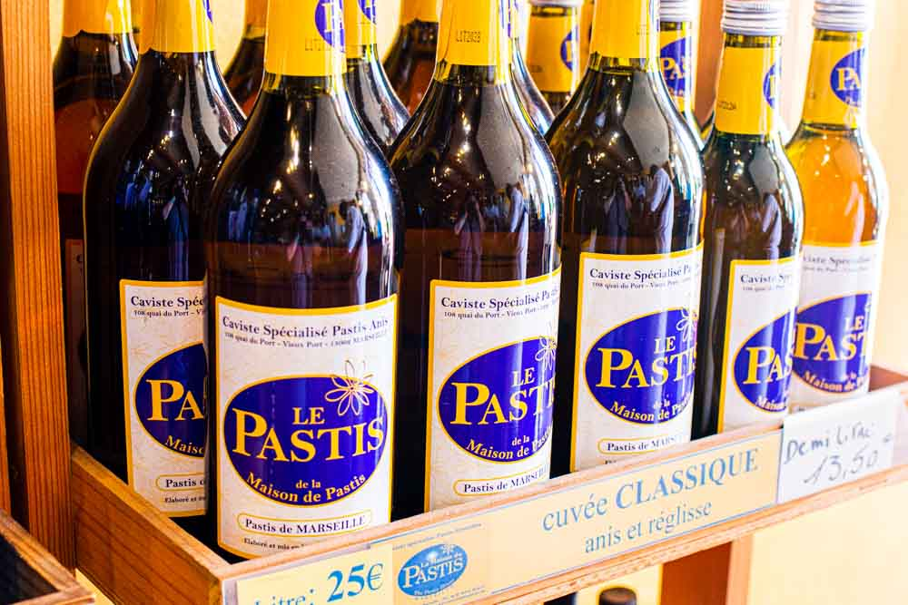Bottles of Pastis de Marseille in Marseille