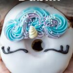 Pinterest image: image of unicorn donut with caption reading 'Where to Eat in Dublin'