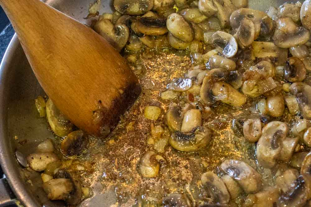 Mushrooms Sautee in Pan
