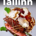 Pinterest image: image of food with caption reading 'Where to Eat in Tallinn'